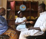 A couple,  Mr Olatunji Yusuf and Mrs Nimota Yusuf attend a family planning counseling session with a service provider, centre Igboro health facility in Ilorin in Nigeria's central state of Kwara, November 6, 2012.
