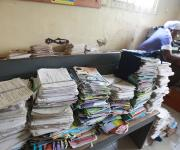Pile of family planning clinic cards at Adeoyo general hospital in Ibadan, South-west, Nigeria, November 7, 2012.