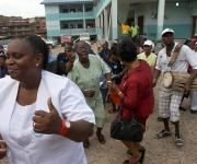 Family planning visibility parade in Oniyanrin primary health centre in Ibadan, South-west, Nigeria November 7, 2012.