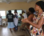 Women attend ante natal clinic session at Oniyanrin primary health centre in Ibadan, South-west, Nigeria November 7, 2012.