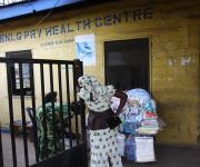 Front view of the Ibadan north local government primary health centre before a make-over repair, in Agodi district Ibadan, south- west, Nigeria November 7, 2012.