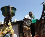 Women fetch water from a public borehole in Jiwa village, outskirt of Nigeria's capital Abuja November 10, 2012.
