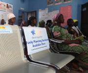 Women attend ante natal clinic session at the primary health centre, Tundun Wada Kujama district in Nigeria's northern city of Kaduna, November  13, 2012.